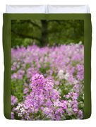 Dame's Rocket Wildflowers And Oak Tree Duvet Cover