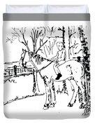 Dan And Horse 11 Duvet Cover