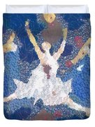 Dance Abstract In The Mix Duvet Cover