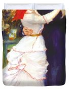 Dance At Bougival 1883 Duvet Cover