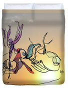 Dance At Sunrise Duvet Cover