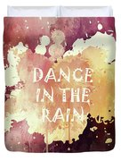 Dance In The Rain Red Version Duvet Cover