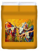 Dance Of The Longhorns Duvet Cover