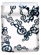Dance Of The Treble Clef  Duvet Cover