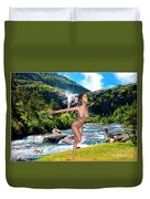 Dance To The Waterfall Duvet Cover