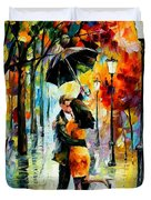 Dance Under The Rain Duvet Cover