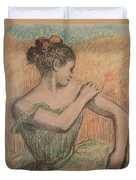 Dancer Duvet Cover by Degas