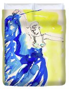 Dancer In Blue Duvet Cover