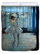 Dancer In Front Of A Window Duvet Cover
