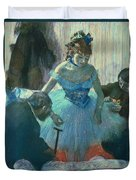 Dancer In Her Dressing Room Duvet Cover by Edgar Degas