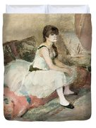 Dancer Seated On A Pink Divan 1884 Duvet Cover