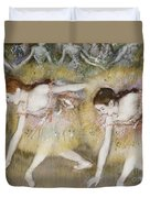 Dancers Bending Down Duvet Cover