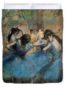 Dancers In Blue Duvet Cover