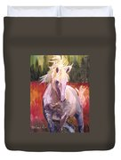 Dances In Fire Meadow Duvet Cover