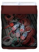 Dances With Lobsters Duvet Cover