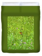Dancing Among The Flowers Duvet Cover