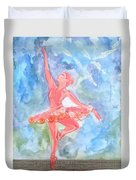 Dancing Ballerina Duvet Cover