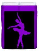 Dancing Ballerina White Silhouette Duvet Cover