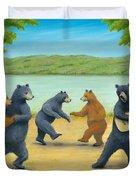 Dancing Bears Duvet Cover