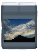 Dancing Clouds Above Volcanic Peak Duvet Cover