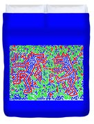 Dancing Dogs After Keith Haring 1958-90 Duvet Cover