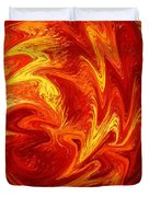 Dancing Flames Abstract  Duvet Cover