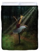 Dancing Giraffe Duvet Cover