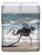 Dancing Heron #1/3 Duvet Cover