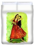 Dancing In The Showlights Duvet Cover