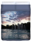 Dancing Jets And Music Sunset - Plovdiv Singing Fountains Duvet Cover