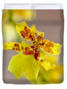 Dancing Lady Orchid Duvet Cover