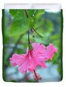 Dancing Lady Pink Hibiscus Duvet Cover