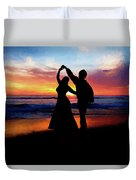Dancing On The Beach - Painting Duvet Cover