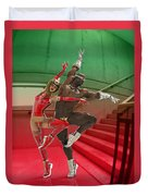 Dancing On The Stairs Duvet Cover