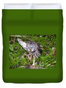 Dancing Owl Duvet Cover