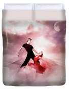 A Passionate Pair Dance In The Middle Of Nowhere, Who Embody The Strength And Subtlety Duvet Cover