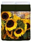 Dancing Sunflowers Duvet Cover