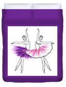Dancing Tutus In Purple And Pink Duvet Cover
