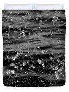 Dancing Water In Black And White Duvet Cover