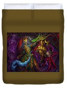 Dancing With Carousel Creatures Duvet Cover