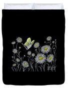 Dancing With Daisies Duvet Cover
