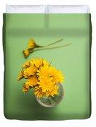 Dandelion Flower Clippings Duvet Cover