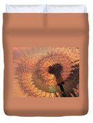 Dandelion Illusion Duvet Cover