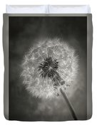 Dandelion In Black And White Duvet Cover
