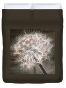 Dandelion In Brown Duvet Cover by Aimelle