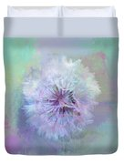 Dandelion In Pastel Duvet Cover
