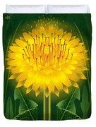 Dandelion Lion's Tooth Print Duvet Cover