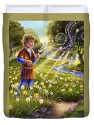 Dandelion - Make A Wish Duvet Cover by Anne Wertheim