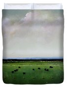 Dandelion Pastures Duvet Cover by Toni Grote
