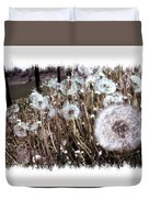 Dandelion Wishes Duvet Cover by Myrna Migala